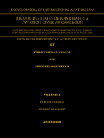 Encyclopaedia of International Aviation Law: Recueil Des Textes De Lois Relatifs A