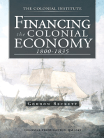 Financing the Colonial Economy 1800-1835