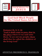 God Said Black People in the United States Are Jews