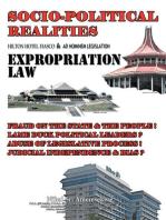 Socio-Political Realities Hilton Hotel Fiasco & Ad Hominem Legislation Expropriation Law