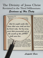 The Divinity of Jesus Christ Revisited in the Third Millennium