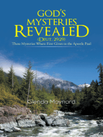 God's Mysteries Revealed (Deut.29:29)