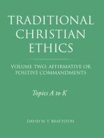 Traditional Christian Ethics