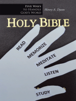 Five Ways to Handle God's Word