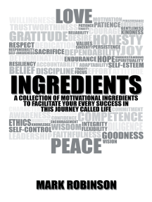 Ingredients: A Collection of Motivational Ingredients to Facilitate Your Every Success in This Journey Called Life