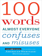 100 Words Almost Everyone Confuses and Misuses