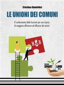 Le Unioni dei Comuni: Il conferimento delle funzioni per una ricerca di maggiore efficienza ed efficacia dei servizi