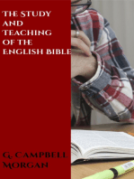 The Study and Teaching of the English Bible