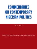 Commentaries on Contemporary Nigerian Politics