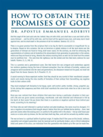 How to Obtain the Promises of God