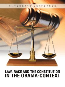 Law, Race and the Constitution in the Obama-Context