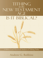Tithing in the New Testament Age