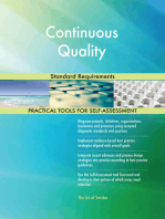 Continuous Quality Standard Requirements