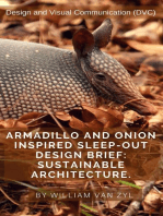 Armadillo and Onion Inspired Sleep-out Design Brief