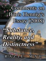 "Comments on Boris Hennig's Essay (2008) ""Substance, Reality and Distinctness"""