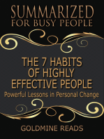 The 7 Habits of Highly Effective People - Summarized for Busy People