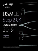 USMLE Step 2 CK Lecture Notes 2019: Surgery