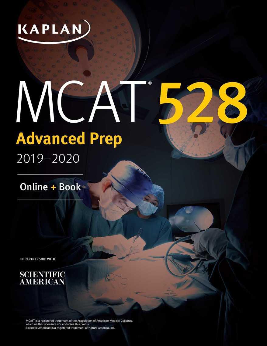 MCAT 528 Advanced Prep 2019-2020 by Kaplan Test Prep - Read Online
