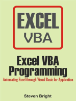 Excel VBA Programming: Automating Excel through Visual Basic for Application