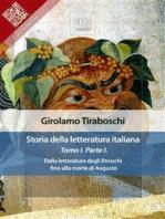 Storia della letteratura italiana del cav. Abate Girolamo Tiraboschi – Tomo 1. – Parte 1