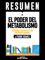 """Resumen De """"El Poder Del Metabolismo"""