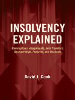 Insolvency Explained: Bankruptcies, Assignments, Bulk Transfers, Receiverships, Probates, and Workouts