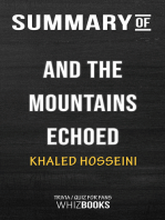 Summary of And the Mountains Echoed