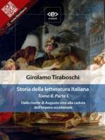 Storia della letteratura italiana del cav. Abate Girolamo Tiraboschi – Tomo 2. – Parte 1