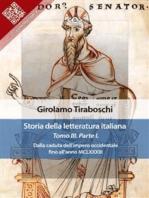 Storia della letteratura italiana del cav. Abate Girolamo Tiraboschi – Tomo 3. – Parte 1