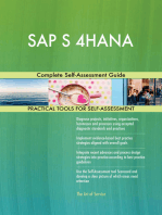 SAP S 4HANA Complete Self-Assessment Guide