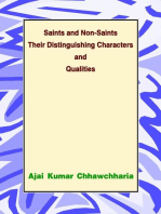 Saints and Non-Saints Their Distinguishing Characters and Qualities