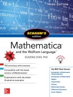 Schaum's Outline of Mathematica, Third Edition
