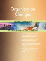Organization Changes Standard Requirements