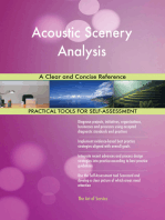 Acoustic Scenery Analysis A Clear and Concise Reference