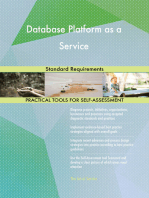 Database Platform as a Service Standard Requirements