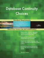 Database Continuity Choices Standard Requirements