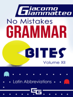 "No Mistakes Grammar Bites, Volume XII, ""Latin Abbreviations"