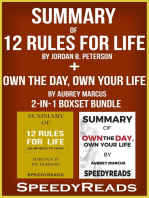 Summary of 12 Rules for Life: An Antidote to Chaos by Jordan B. Peterson + Summary of Own the Day, Own Your Life by Aubrey Marcus 2-in-1 Boxset Bundle