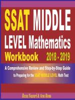 SSAT Middle Level Mathematics Workbook 2018 - 2019