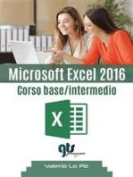 Microsoft Excel 2016 - Corso base/intermedio