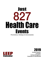 Just 827 Health Care Events Promotions, Holidays & Anniversaries for 2019