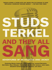 And They All Sang: Adventures of an Eclectic Disc Jockey