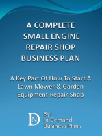A Complete Small Engine Repair Shop Business Plan
