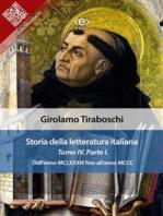 Storia della letteratura italiana del cav. Abate Girolamo Tiraboschi – Tomo 4. – Parte 1
