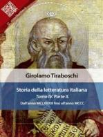 Storia della letteratura italiana del cav. Abate Girolamo Tiraboschi – Tomo 4. – Parte 2