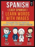Spanish ( Easy Spanish ) Learn Words With Images (Vol 3)