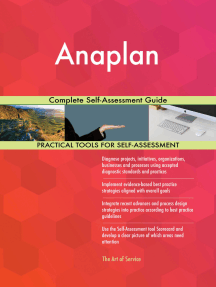 Anaplan Complete Self-Assessment Guide