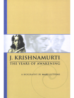 Mary Lutyens - 1. Krishnamurti. The Years of Awakening