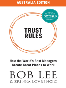 Trust Rules (Australia Edition) - How the World's Best Managers Create Great Places to Work