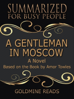 A Gentleman In Moscow - Summarized for Busy People